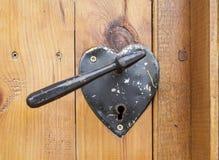 Hjärta format dörrhandtag Fotografering för Bildbyråer
