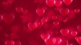 Hjärta-format kretsa bakgrund lager videofilmer