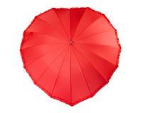 Hjärta format paraply Arkivfoton