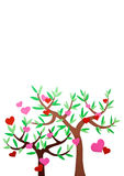 Hjärta-format symbol och träd Fotografering för Bildbyråer