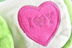 Hjärta-format tyg för bakgrund Royaltyfri Fotografi