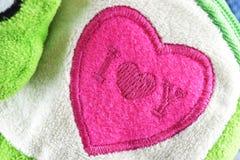 Hjärta-format tyg för bakgrund Royaltyfria Bilder