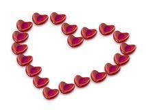 Hjärta från hjärtor vektor illustrationer