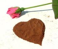 Hjärta från kanel Royaltyfri Bild
