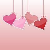 Hjärta från pappers- Arkivfoto