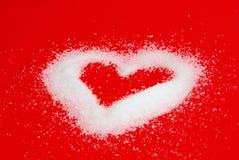 Hjärta från socker Royaltyfria Foton