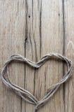 Hjärta från tråden Arkivbilder
