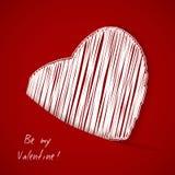 Hjärta från valentin dagkort Arkivbilder