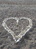 hjärta gjord sten Arkivfoto