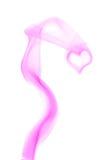 hjärta gjorde purpur rök Royaltyfri Bild