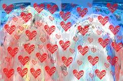Hjärta Grafik Teckning färgrikt färger royaltyfri illustrationer