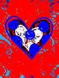 Hjärta Grafik Teckning färgrikt färger stock illustrationer