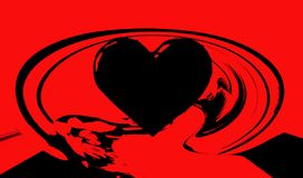 Hjärta Grafik Teckning färgrikt färger Royaltyfri Fotografi