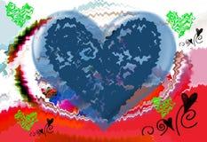 Hjärta Grafik Teckning färgrikt färger vektor illustrationer