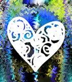 Hjärta Grafik Teckning färgrikt färger Arkivfoto