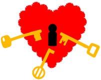 Hjärta hårt som ska öppnas jpg stock illustrationer