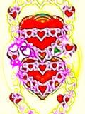 Hjärta Hjärtor ferie bröllop ferier Arkivbild