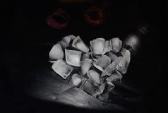 Hjärta Hjärtor från is Förälskelse Hoad kyss abstraktion Royaltyfri Bild