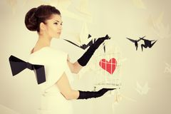 Hjärta i bur Royaltyfria Bilder