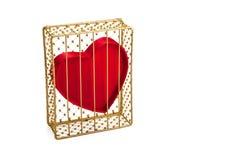 Hjärta i den Guilded buren Royaltyfri Bild