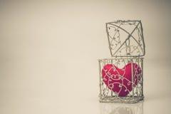 Hjärta i en bur arkivfoto
