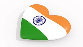 Hjärta i färger och symboler av Indien royaltyfri illustrationer