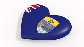 Hjärta i färgflaggan av St Helena pulsar, ögla royaltyfri illustrationer