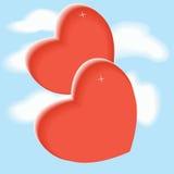 Hjärta i himlen Royaltyfri Foto