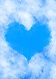 Hjärta i molnen Arkivbilder