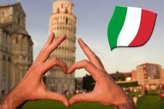 Hjärta i Pisa Royaltyfri Bild