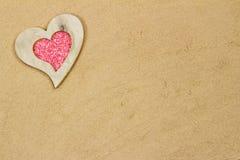 Hjärta i sanden. Fotografering för Bildbyråer