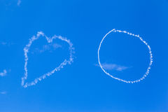 Hjärta i skyen Fotografering för Bildbyråer