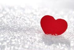 Hjärta i snow royaltyfria foton