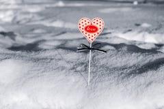 hjärta i snow Royaltyfri Bild