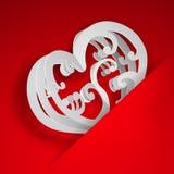 Hjärta i utklipp i papper royaltyfri illustrationer