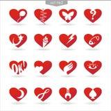 Hjärta icons_set2 Royaltyfria Bilder