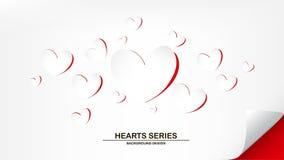 Hjärta III för vektorillustrationpapper Royaltyfri Fotografi