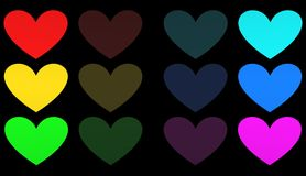 Hjärta illustration Arkivbild