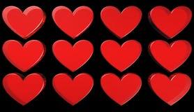 Hjärta illustration Arkivfoto