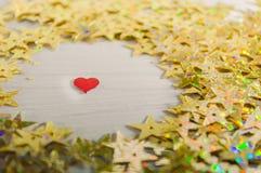 Hjärta inom stjärnor Fotografering för Bildbyråer