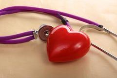 hjärta isolerad medicinsk stetoskopwhite Royaltyfri Bild