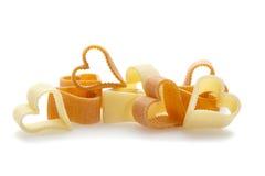 hjärta isolerad pasta formad white royaltyfria foton