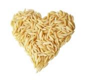 hjärta isolerad pasta s Royaltyfri Foto