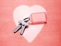 hjärta keys mitt till Royaltyfri Fotografi
