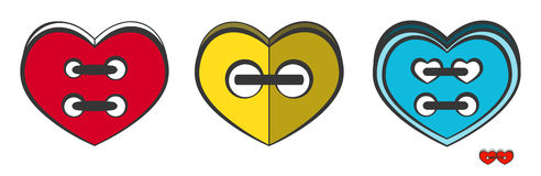 Hjärta-knappar Royaltyfri Fotografi
