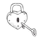Hjärta låser (räcka utdraget), Arkivbild