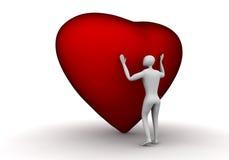 hjärta lyssnar till ditt Royaltyfri Bild