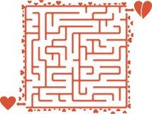 Hjärta Maze Arkivfoto