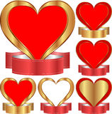 Hjärta med bandet Arkivfoton