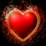 Hjärta med bokeh Arkivfoton